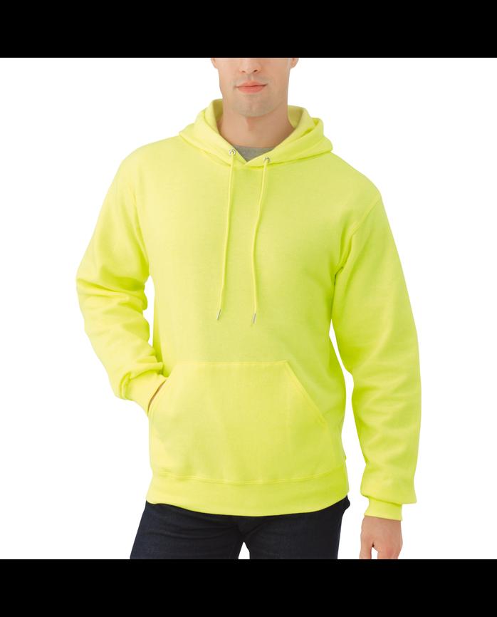 Big Men's EverSoft Fleece Pullover Hoodie Sweatshirt Safety Green