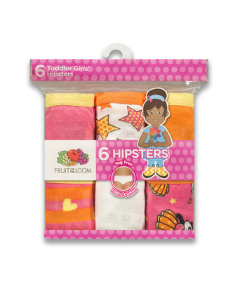 Toddler Girls' Assorted Hipster Panty, 6 Pack