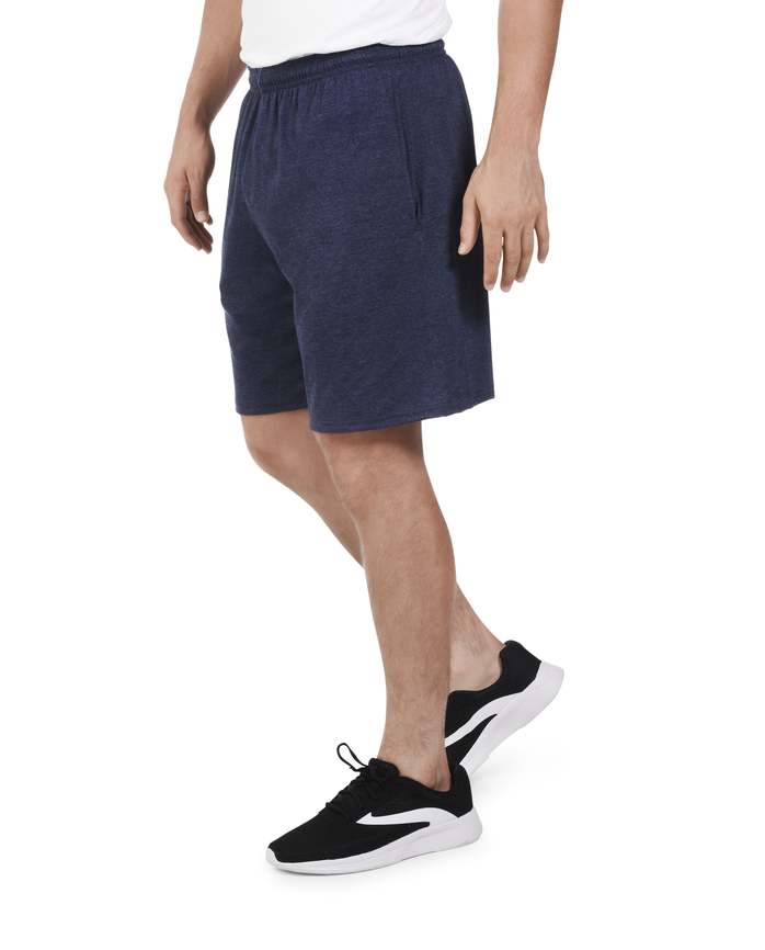 Men's Dual Defense UPF Jersey Shorts, 1 Pack Indigo Ink Heather