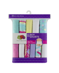 Girls' 11 Pack Assorted Color Boy Short Assorted Print and Color