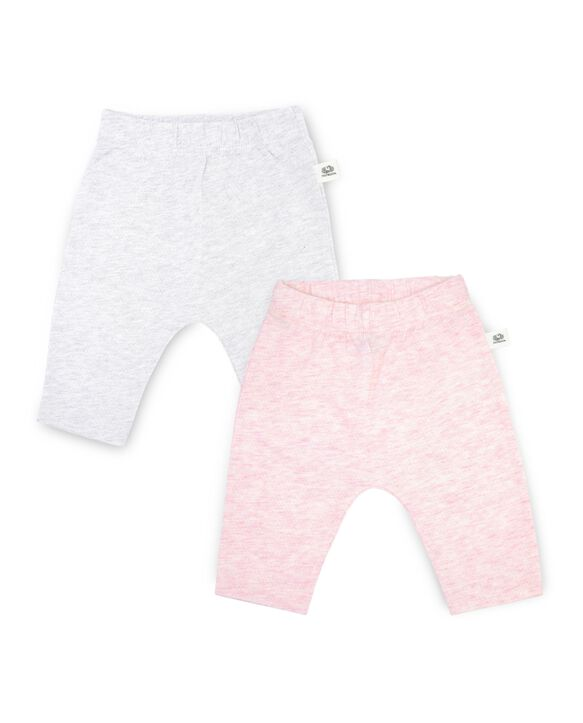 Baby Girls' Breathable Pull-On Pants, 2 Pack Pink Multi