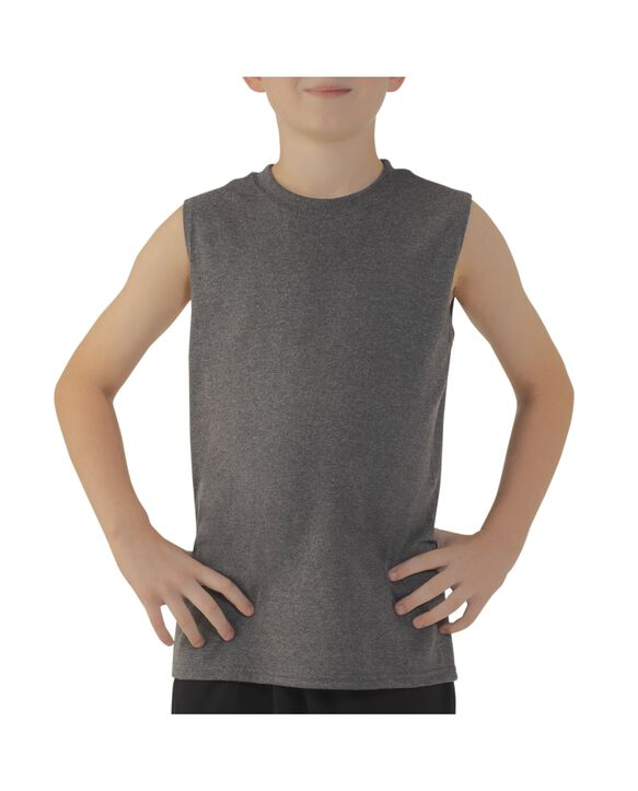 Boys' Sleeveless T-Shirt Slate Grey Heather