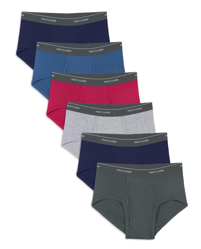 Men's Assorted Fashion Briefs, 6 Pack