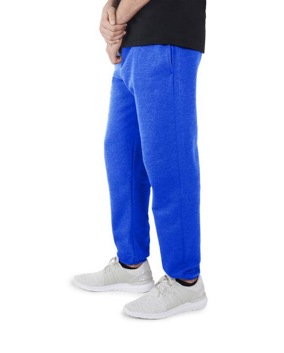 Men's EverSoft Fleece Elastic Bottom Sweatpants, 1 Pack Blue Glass Heather