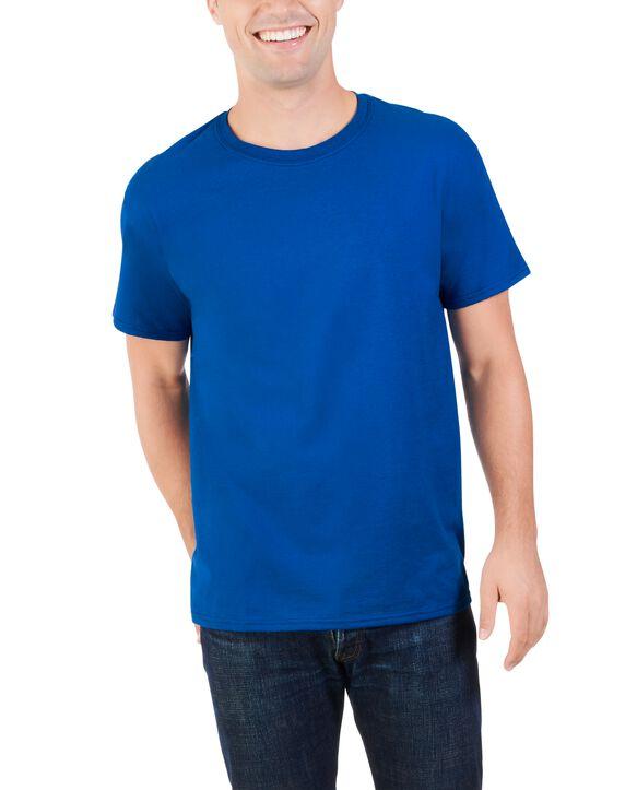 Men's Dual Defense UPF Short Sleeve Crew T-Shirt, 1 Pack Blue Shadow