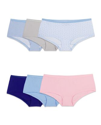 Women's Cotton Boy Short, 6 Pack