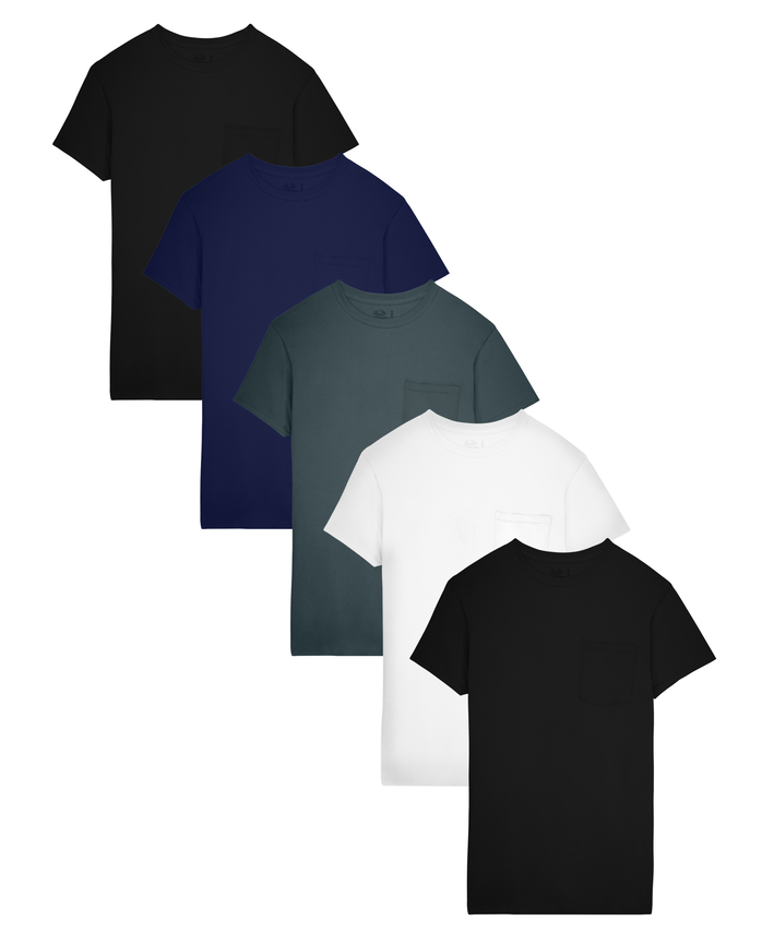Fruit of the Loom Men's Dual Defense Assorted Pocket T-Shirts, 5 Pack