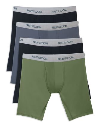 Men's EverLight Long Leg Assorted Boxer Briefs,4 Pack