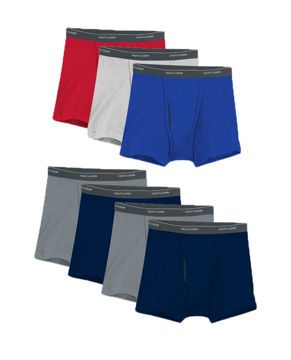 Men's CoolZone® Fly Assorted Short Leg Boxer Briefs, 7 Pack ASSORTED