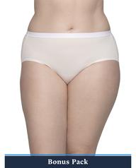 Women's Plus Assorted Microfiber Brief Panty, 8 Pack