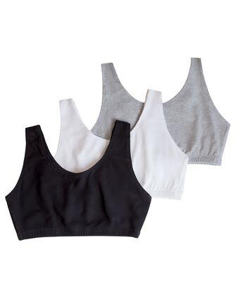 Women's Tank Style Sports Bra, 3 Pack