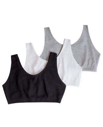 Women's Tank Style Sports Bra, 3 Pack