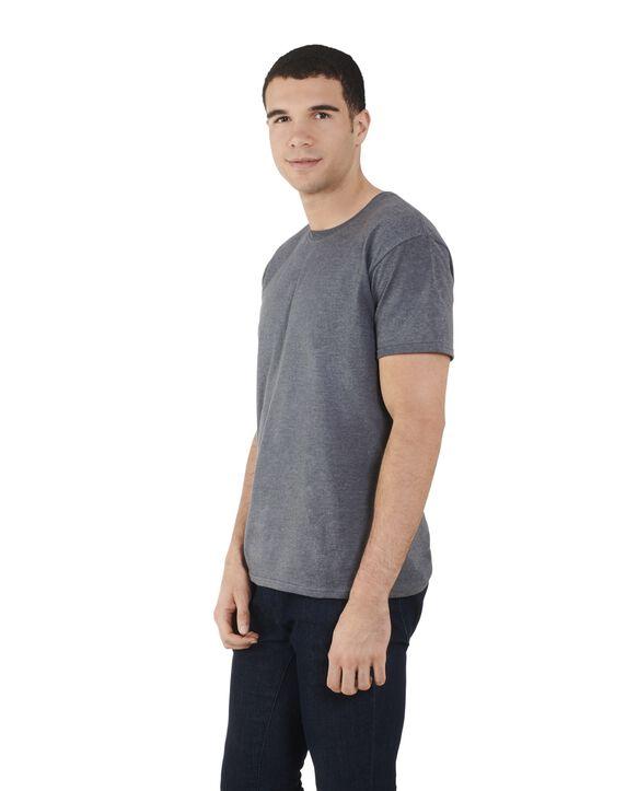 Men's Dual Defense UPF Short Sleeve Crew T-Shirt, 1 Pack Charcoal Heather