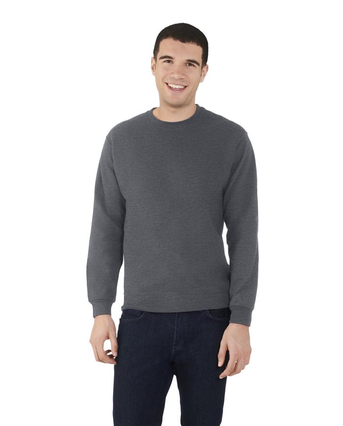 Big Men's EverSoft Fleece Crew Sweatshirt, 1 Pack Charcoal Heather