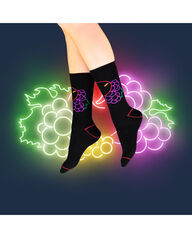 Fruit of the Loom Limited Edition Neon Fruit Fashion Crew Socks BLACK, RED, PURPLE, GREEN, YELLOW