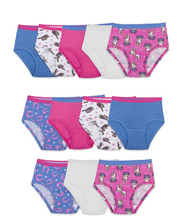 Toddler Girls' Brief Panty, 12 Pack Assorted
