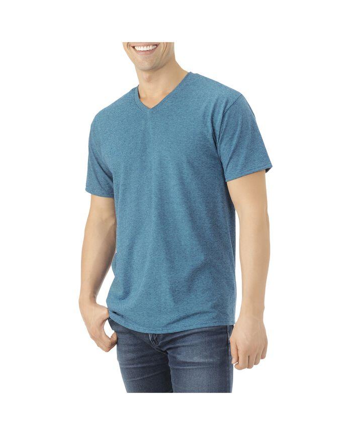 Men's EverSoft Micro Stripe V-Neck T-Shirt, 1 Pack Cosmic