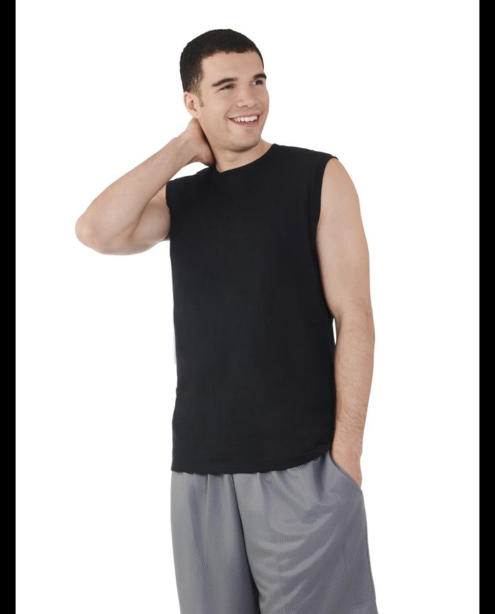Men's Dual Defense® UPF Muscle Shirt, 1 Pack Black