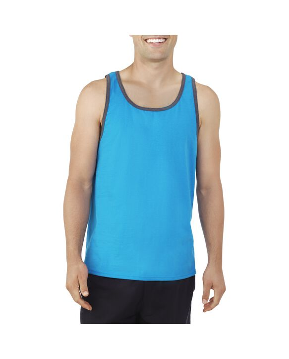 Men's Dual Defense UPF Sleeveless Tank Top Cereleum Blue