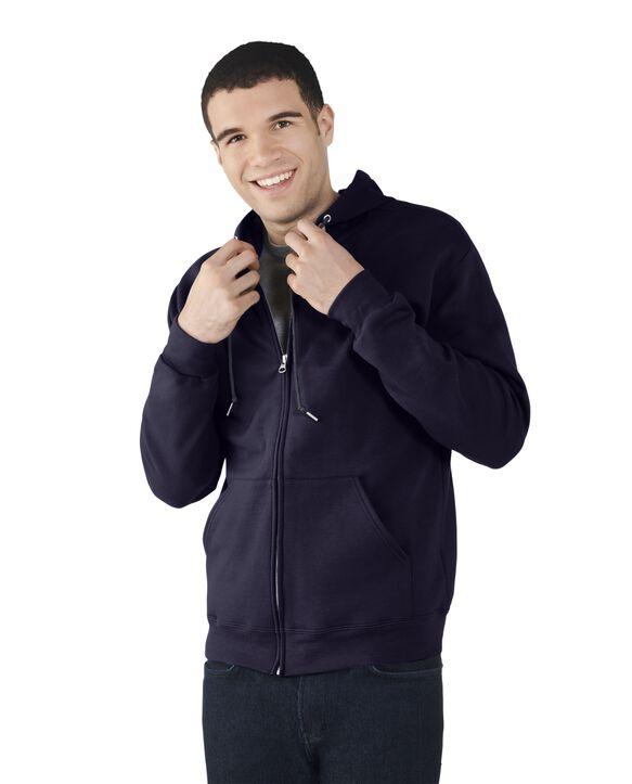 Big Men's EverSoft Fleece Full Zip Hoodie Jacket, 1 Pack J.Navy