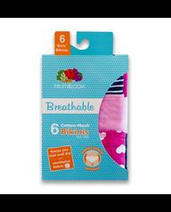 Girls' 6 Pack Breathable Bikini Assorted