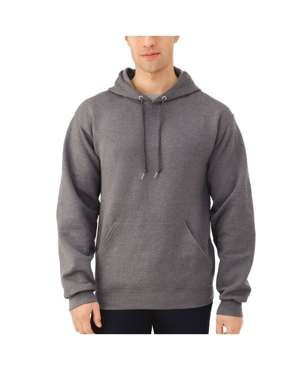 Big Men's EverSoft Fleece Pullover Hoodie Sweatshirt, 1 Pack Charcoal Heather