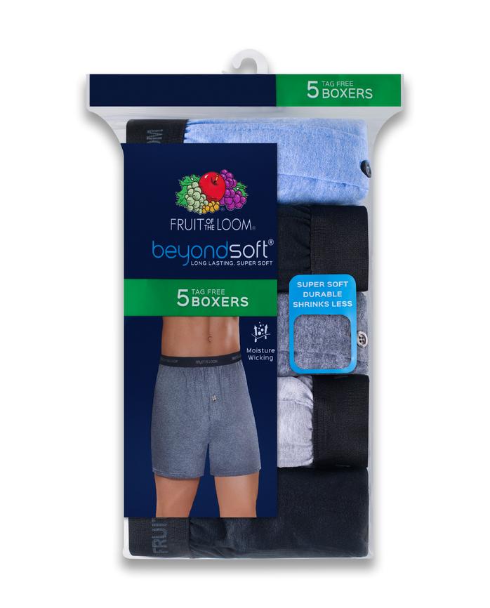 Men's Beyondsoft Knit Boxers, 5 Pack