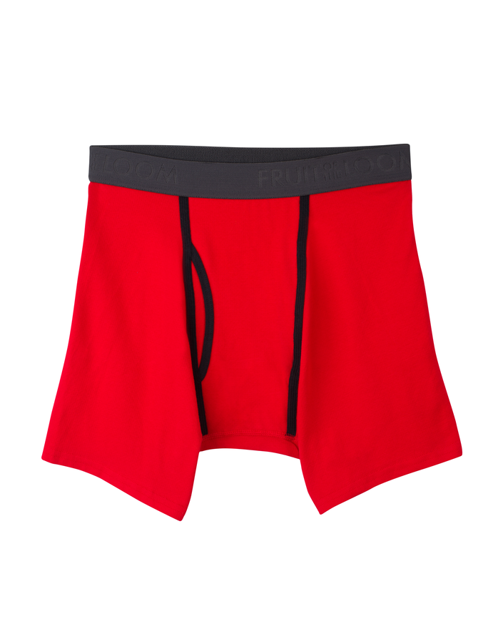 Men's Breathable Cooling Cotton Micro Mesh Boxer Brief, 1 Pack Assorted
