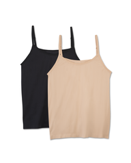 Fit For Me by Fruit of the Loom Women's 2 Pack Seamless Cami Assorted