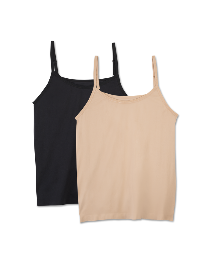 Fit For Me by Fruit of the Loom Women's 2 Pack Seamless Cami