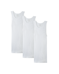 Men's Big and Tall White A-Shirt, 3 Pack White