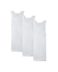 Men's Cotton White A-Shirts, 3 Pack White