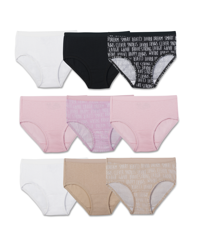 Girls' 9-pack Brief Assorted