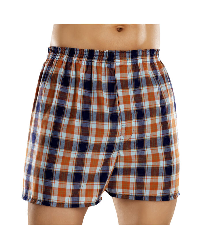 Men's 5 Pack Fashion Plaid Boxers Extended Sizes Plaid