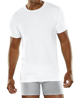 Men's Breathable Cotton Micro-Mesh Crews 5 Pack