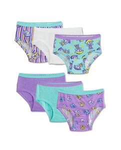 Toddler Girls' 6 Pack Assorted Brief