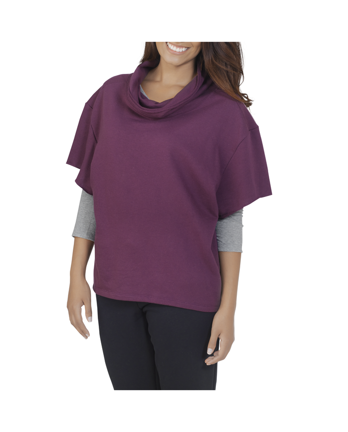 Women's Essentials Cowl Neck Pullover, 1 Pack Beet