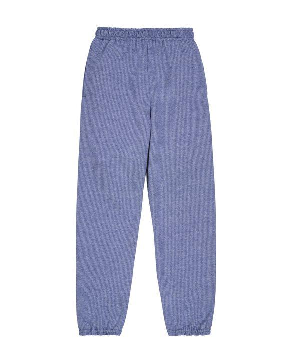 Boys' Fleece Elastic Bottom Sweatpants, 1 Pack Smoke Blue Stripe
