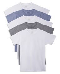 Fruit of the Loom Boys' Beyond Soft Crew T-Shirts, 5 pack