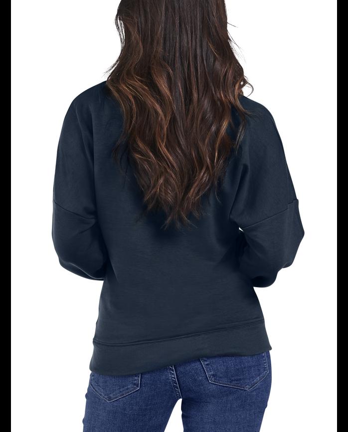 Women's Seek No Further® Brushed Fleece Blouse, 1 Pack NAVY NIGHTS