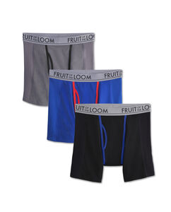 Fruit of the Loom Men's Ultra Flex Boxer Brief, 3-Pack