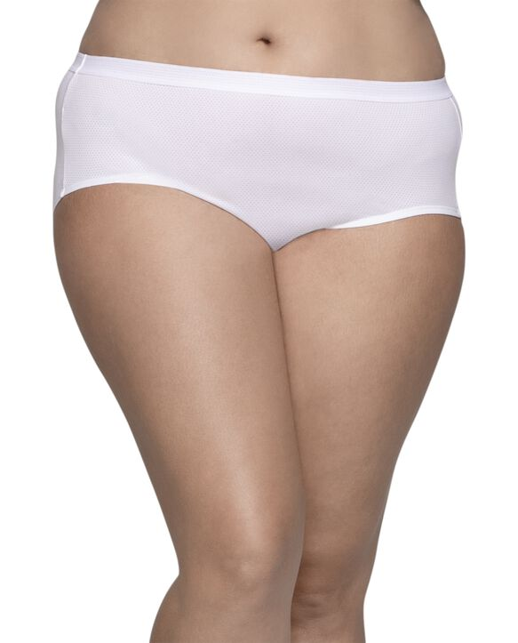 Women's Plus Size Fit for Me® by Fruit of the Loom® Breathable Micro-Mesh Hipster Panty , 6 Pack Assorted