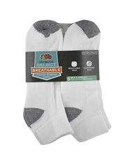 Men's Breathable Cotton Ankle Socks,  6 Pack, Size 6-12 WHITE