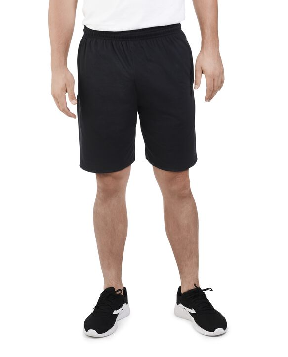 Big Men's Dual Defense UPF Jersey Shorts, 2 Pack Black