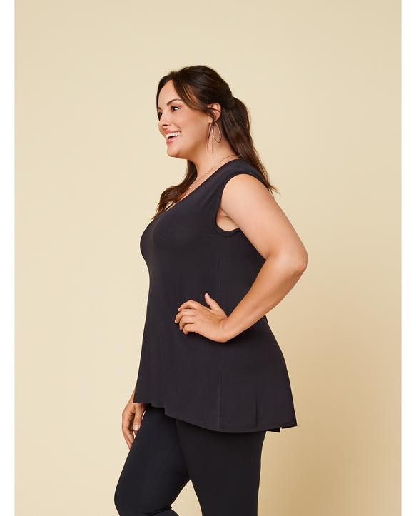 Women's Seek No Further Plus Size Scoop Neck Tank Top True Black