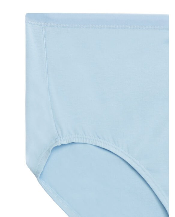 Women's Plus Size Fit for Me® by Fruit of the Loom® 360 Cotton Stretch Assorted Brief Panty,6 Pack Assorted