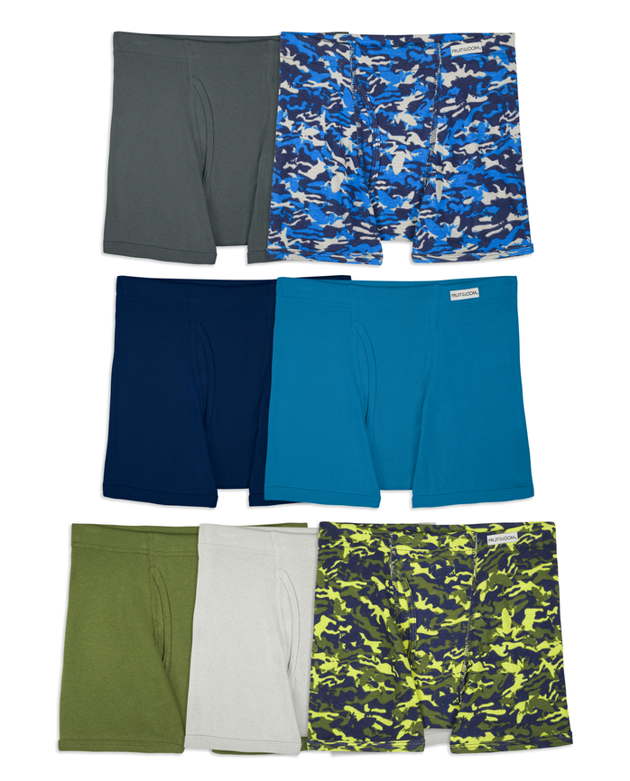 Boys' Covered Waistband Boxer Briefs, 7 pack