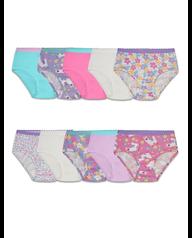 Toddler Girls' Assorted Cotton Brief Underwear, 10 Pack ASSORTED
