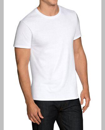 Men's Short Sleeve White Crew T-Shirts, 3 Pack