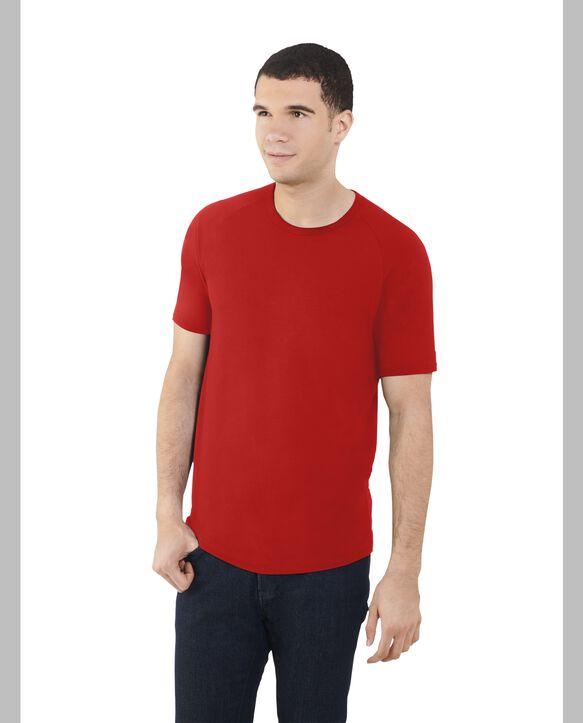 Big Men's Short Sleeve EverLight™ Raglan T-Shirt, 2 Pack True Red